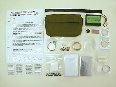 British MOD Mk 3 Survival Kit (Escape & Evasion/SAS/Para/Special Forces/RAF/BCB)