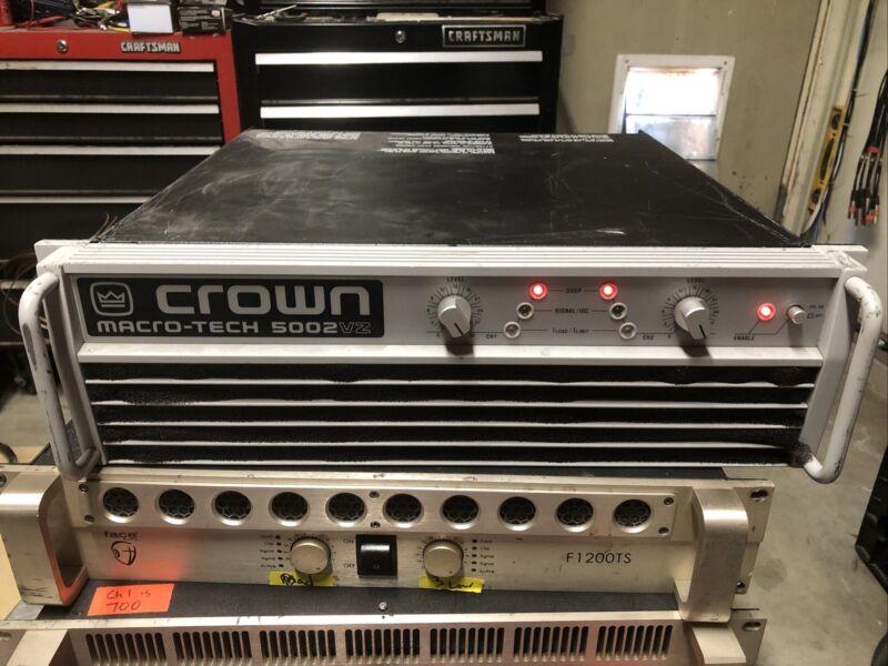 Crown macro-tech 5002vz MA 5000vz