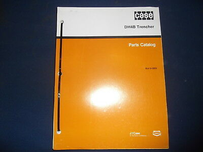 Case Dh4b Trencher Parts Book Manual 8-2850