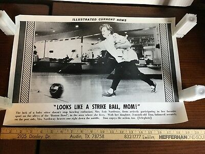 Illustrated Current News Photo - Bowling with Baby Boston Bowl Lois Northway