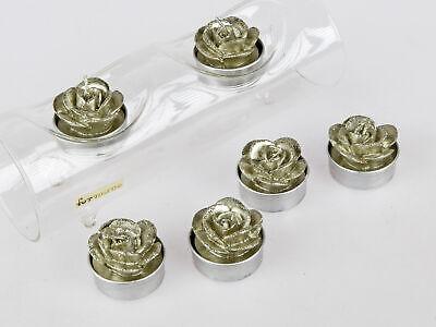 6er Pack Teelichter Rosen champagner gold Formano W21