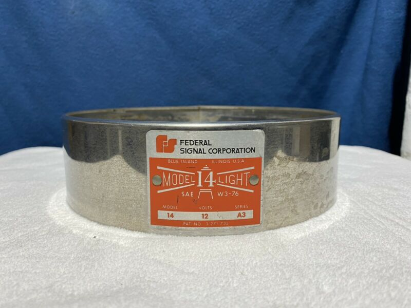 Federal Signal Model 14 Beacon - Retaining Ring - Trim Ring - Chrome Ring
