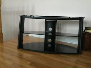 Glass TV Stand (black) Excellent condition - 2 available