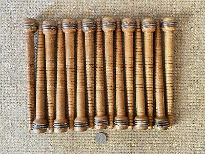 Lot of  15 Vintage Wooden Industrial Textile Thread Spindle Bobbins