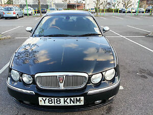 2001 ROVER 75 CLUB CDT SE BLACK. DIESEL, 7 MONTHS TAX. 10 MONTHS MOT