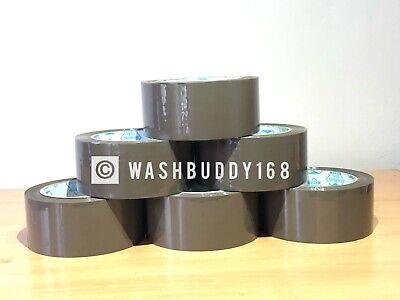 "6 Rolls High Quality 1.8 Mil 2"" X110 Yards Brown/Tan Carton Sealing Packing Tape"