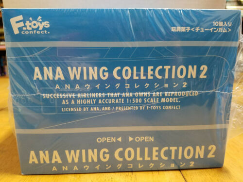 ANA Wing Collection 2 1/500 scale models unopened retail case of 10 units F-Toys
