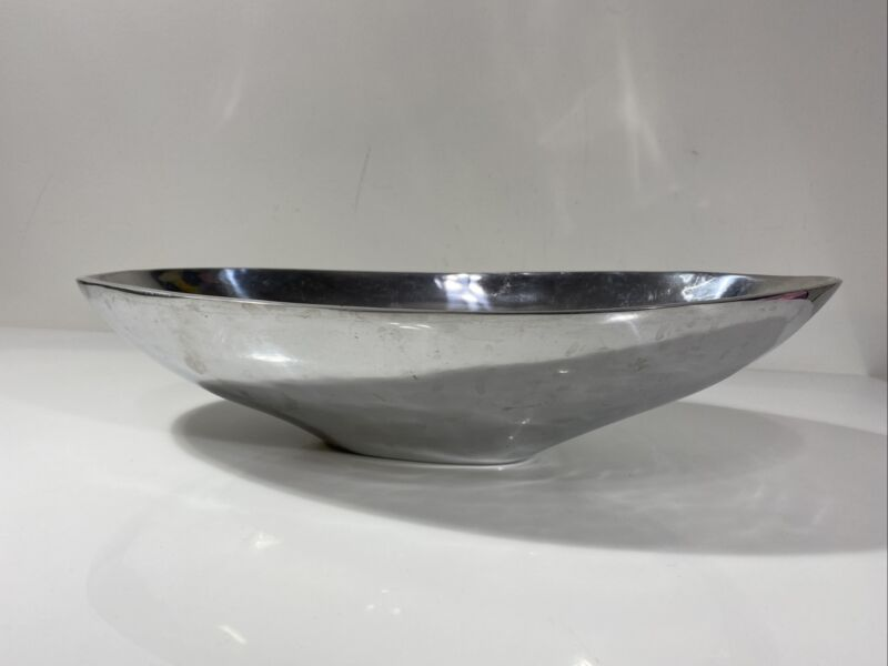 Mexican Silver Bowl Modern Style Chic MCM Large