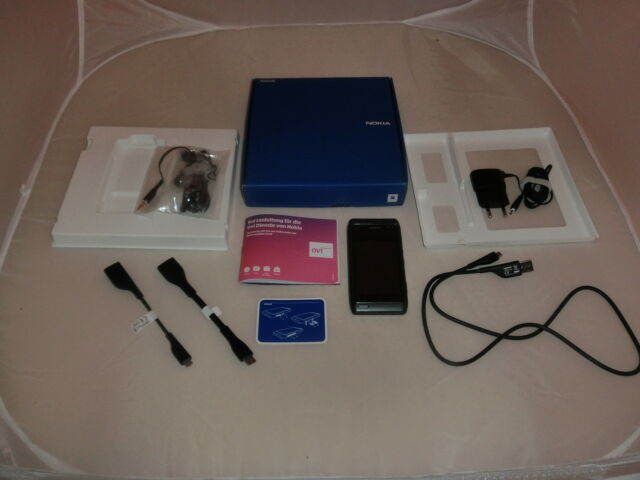 Nokia N8-00 16GB Dark Grey in OVP, ohne Simlock, WLAN, 3G/HSDPA, 2J. Garantie
