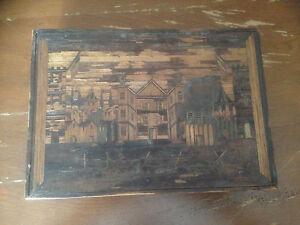 boite a bijoux ancienne en marqueterie de paille vers 1850 ebay. Black Bedroom Furniture Sets. Home Design Ideas