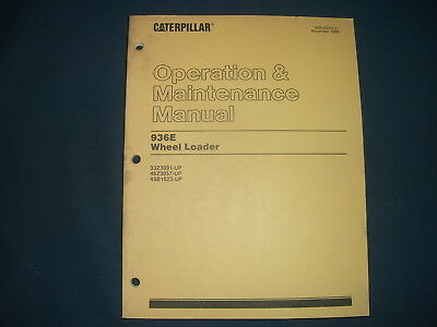 Cat Caterpillar 936e Wheel Loader Operation Maintenance Manual Sn 33z 45z 4sb