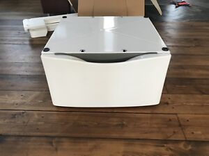 Two NEW Whirlpool XHP1550VW Dryer & washer pedestal, fits all