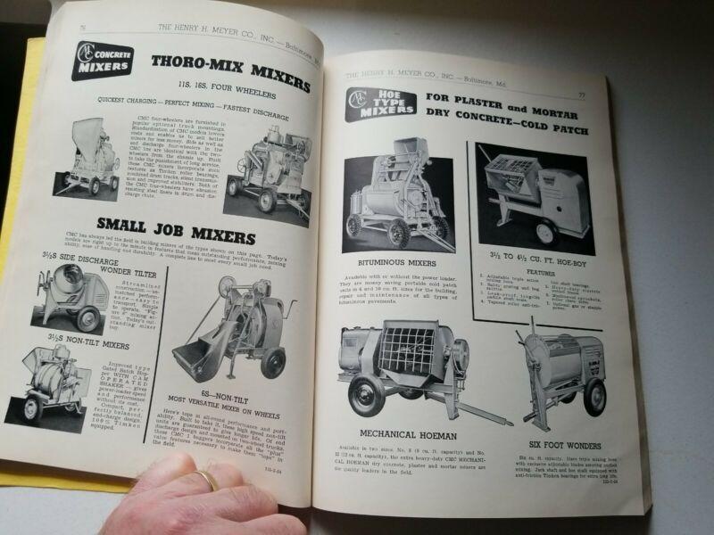 Vtg 1954 HIGHWAY Construction CATALOG Concrete Road Builder Bay City Crane Tool