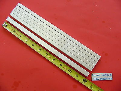 6 Pieces 38 X 12 Aluminum 6061 Flat Bar 12 Long .375x .50 Solid Mill Stock