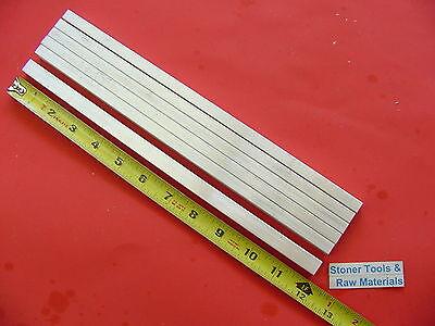 6 Pieces 38 X 12 Aluminum 6061 Flat Bar 12 Long .375x .50 Solid Mill Stock