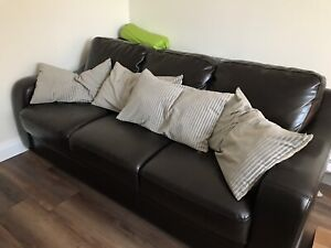 4 Pillows - Silvery Green - newly washed - for living room