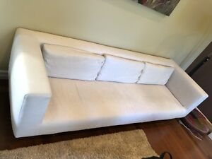 High end Italian made linen couch