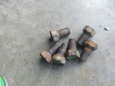 6 John Deere A Tractor 1946 Jd Front Wheel Hub Stud Bolts Bolt For Rims To Hub