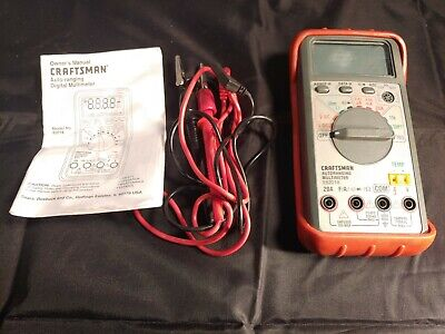 Craftsman Autoranging Digital Multimeter 82018 - Tested Works