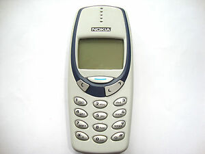 GRIS-CLARO-NOKIA-3330-TELEFONO-MoVIL-LIBRE-ADORABLE-RETRO-TELEFONO