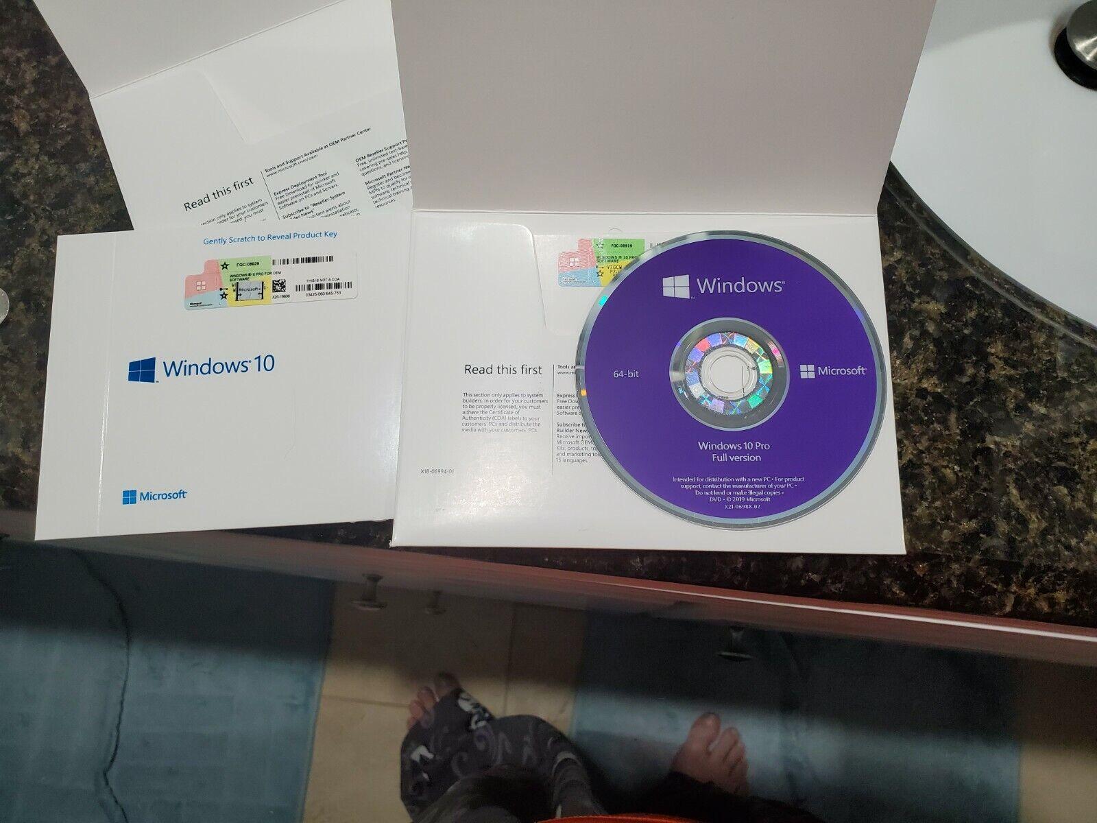 WIN PRO 10 64Bit  Microsoft Windows Professional - NEW FULL
