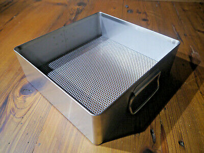 New X Medin Corp Stainless Steel Sterilization Instrument Tray 10 X 10.5 X 3