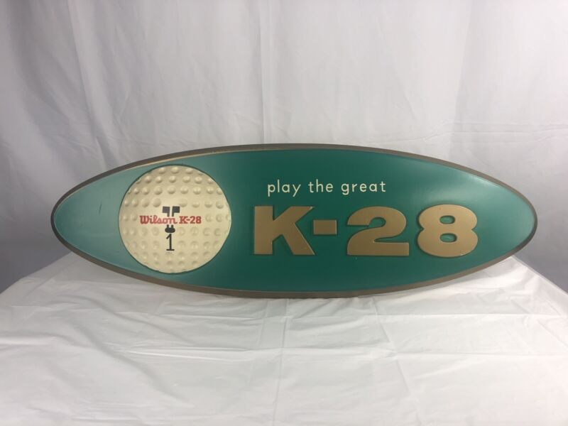 Vintage Rare Advertisement PLAY THE GREAT K-28 Wilson Golf Ball Green Sign