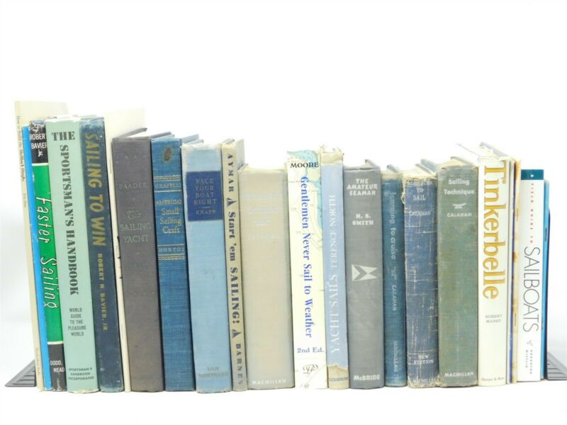 LOT of 22 Books & Magazines Yachting & Sailing Hardcover Paperback 1936 - 1993