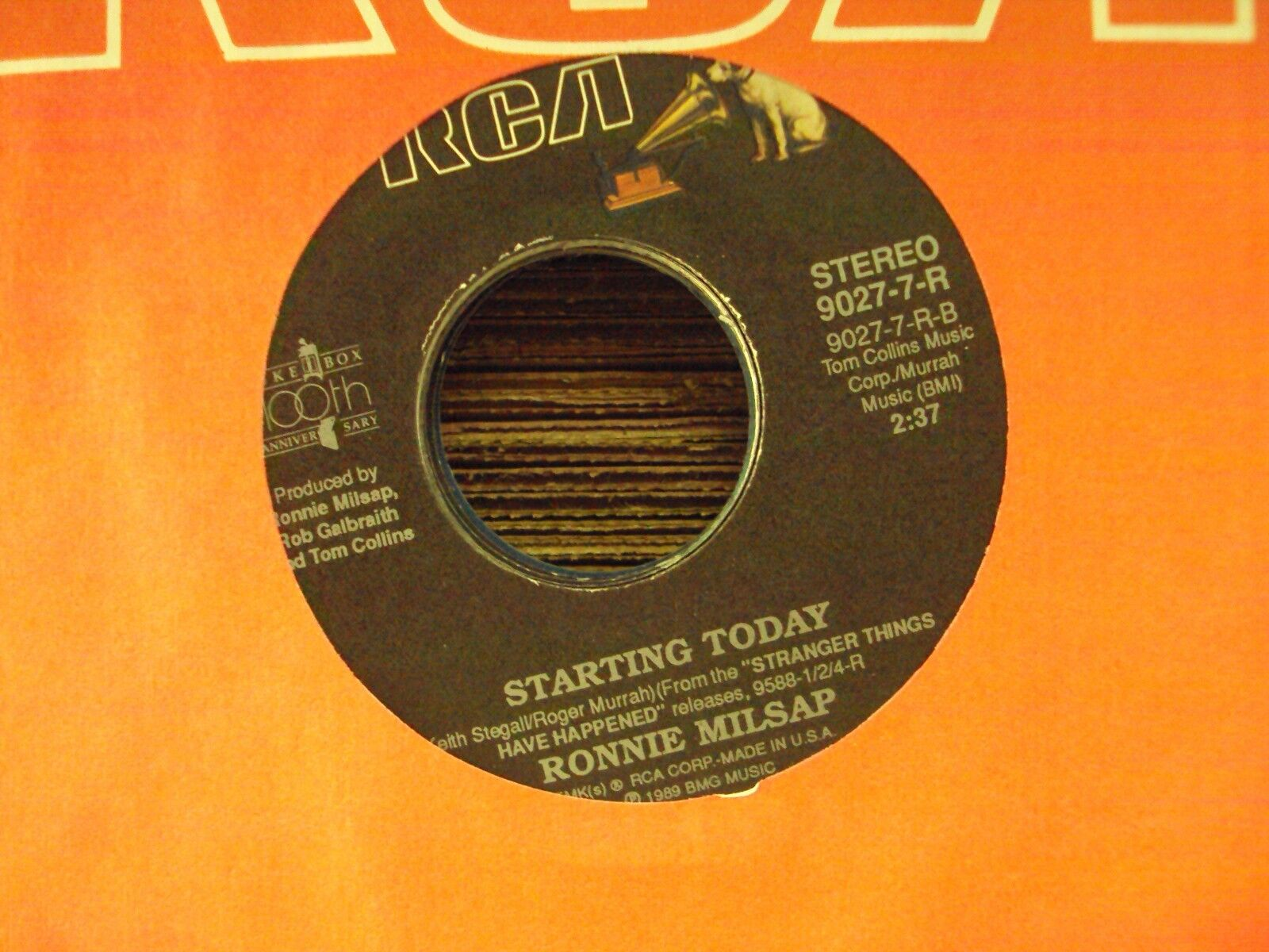 """RONNIE MILSAP A Woman In Love/Starting Today 7"""" 45 late-80's country"""