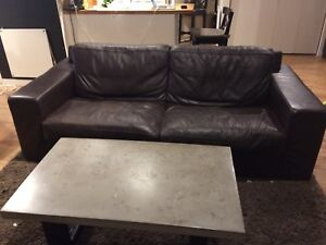 Divan cuir brun ( brown leather couch)