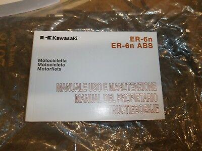 Kawasaki  ER6N ER6FER650  EX650 12-16 OWNERS MANUAL ITALIAN SPANISH NETHERLANDS