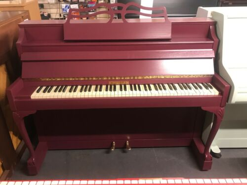 Challen Resprayed Purple Upright Piano - Colonial - FREE DEL GROUND FLR ENG/WLES