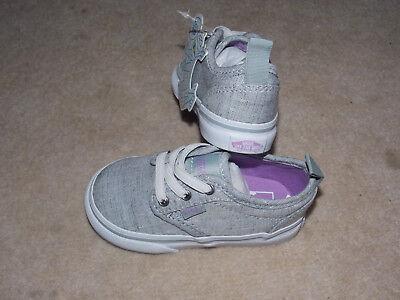 Jungen Vans Gr. 21 (US5) grau/weiß Sneaker Textil