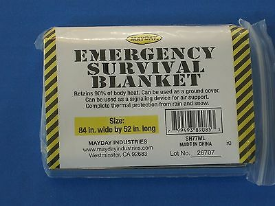 New Camping Outdoor Emergency Rescue Solar Thermal Mayday Mylar Blanket SH77ML