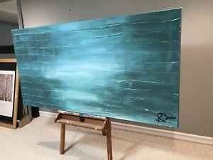Original Abstract Painting on large Canvas 6'x 3'