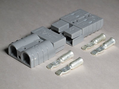 Authentic Anderson Sb50 Connector Kit Gray 6 Awg 6319 2 Pack 4 Connectors