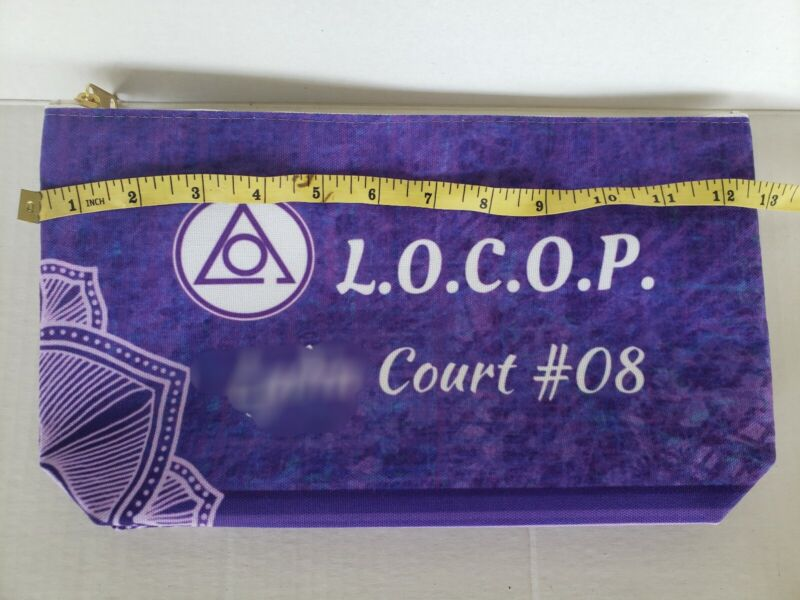 Ladies of the Circle of Perfection LOCOP custom pouch Order of Eastern Star LRg