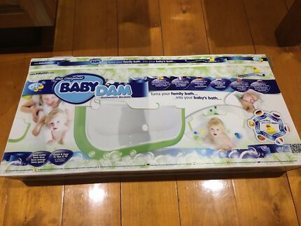 Baby dam bath barrier