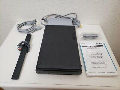 Nintendo Wii U 32GB Game Console w/Sensor & HDMI Cbl (WUP-101(02) - Black  (22)