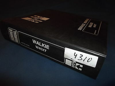 Hyster W45xt Walkie Forklift Service Shop Repair Manual Book