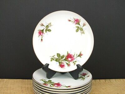 Vintage Moss Rose by Japan Luncheon Plate 7