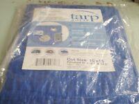 TARP BLUE POLYETHYLENE BOAT STORAGE COVER 136 97251B 20FT X 30FT BOATINGMALL