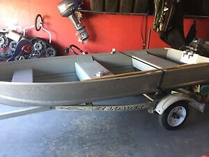 12' boat engine and trailer
