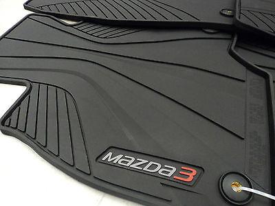 Mazda 3 Skyactiv 2014 2017 OEM Black All Weather Rubber Floor Mats 0000 8B L82