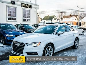 2015 Audi A3 TDI Komfort DIESEL LEATHER PANO ROOF WOW!!