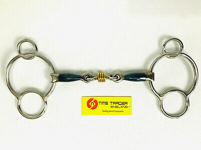 Sweet Iron Horsebits (Universal Bits Blu Sweet Iron With Roller Mouthpiece Horse Bit - All sizes )
