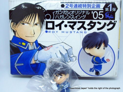 "Used Fullmetal Alchemist Key Chain Roy Mustang mini Figure 1.5"" Rare 2003 Enix"