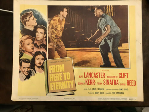 From Here To Eternity 1953 Columbia 11x14 lobby Montgomery Clift Ernest Borgnine