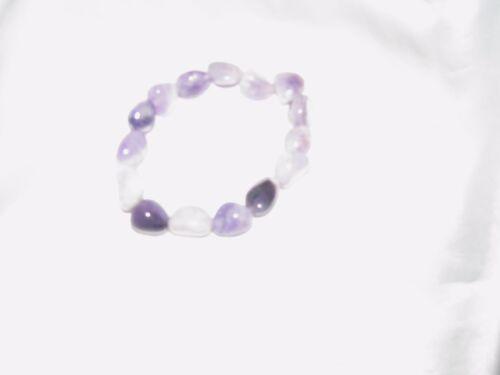 Amethyst Tumbled Gemstone Elastic Bracelet Wicca