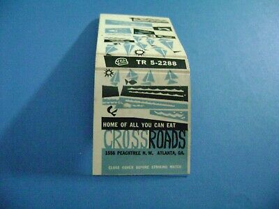 "1- Match Book, ""THE CROSSROADS RESTAURANT"", Atlanta, GA, complete. (Shows Age)"